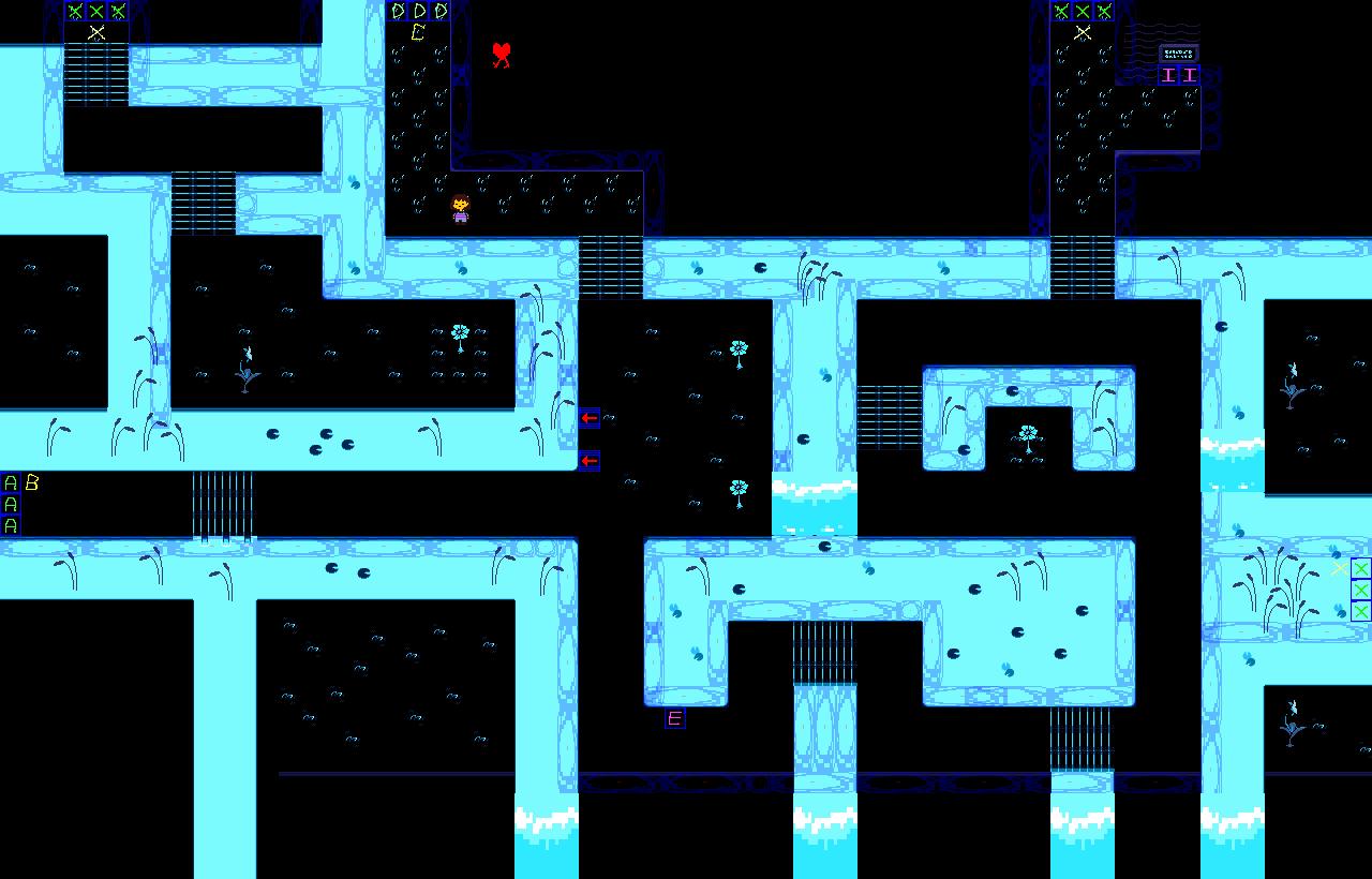 Картинки андертейл карта подземелья